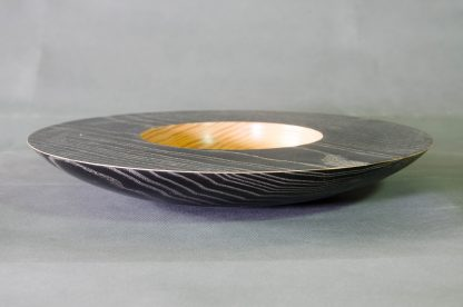 Black and Silver Ash Bowl