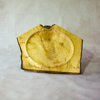 Natural edge Sycamore crotch platter from above